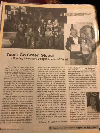 Asia Trend Teens Go Green