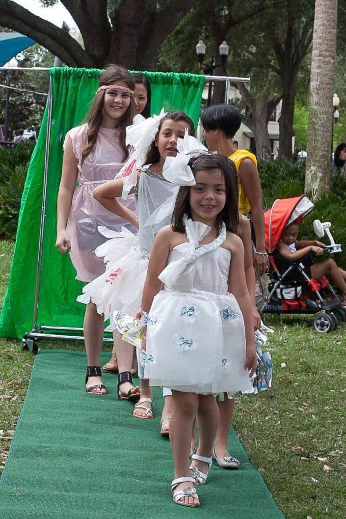 Teens Go Green Trash Fashion